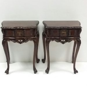 Antique Style Pair of Lamp Stands