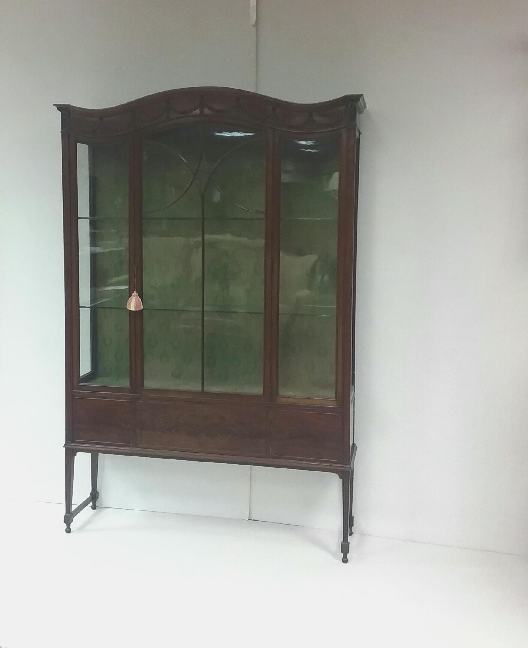 Antique Edwardian Mahogany Display Cabinet.