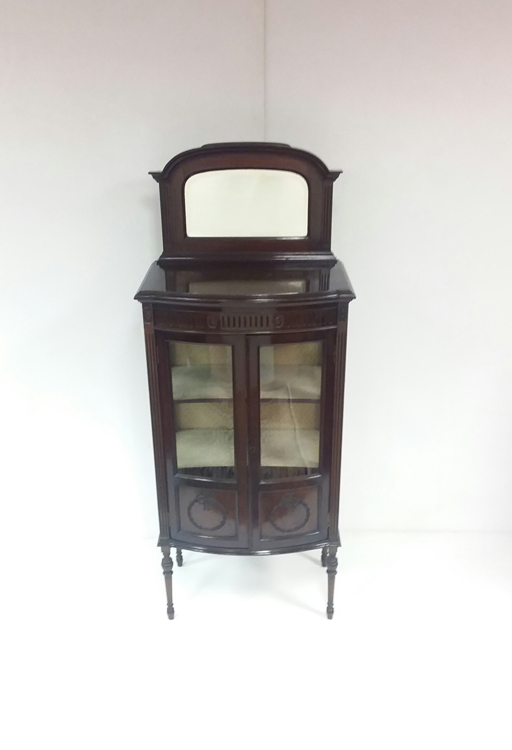 Antique Late Victorian Display Cabinet.