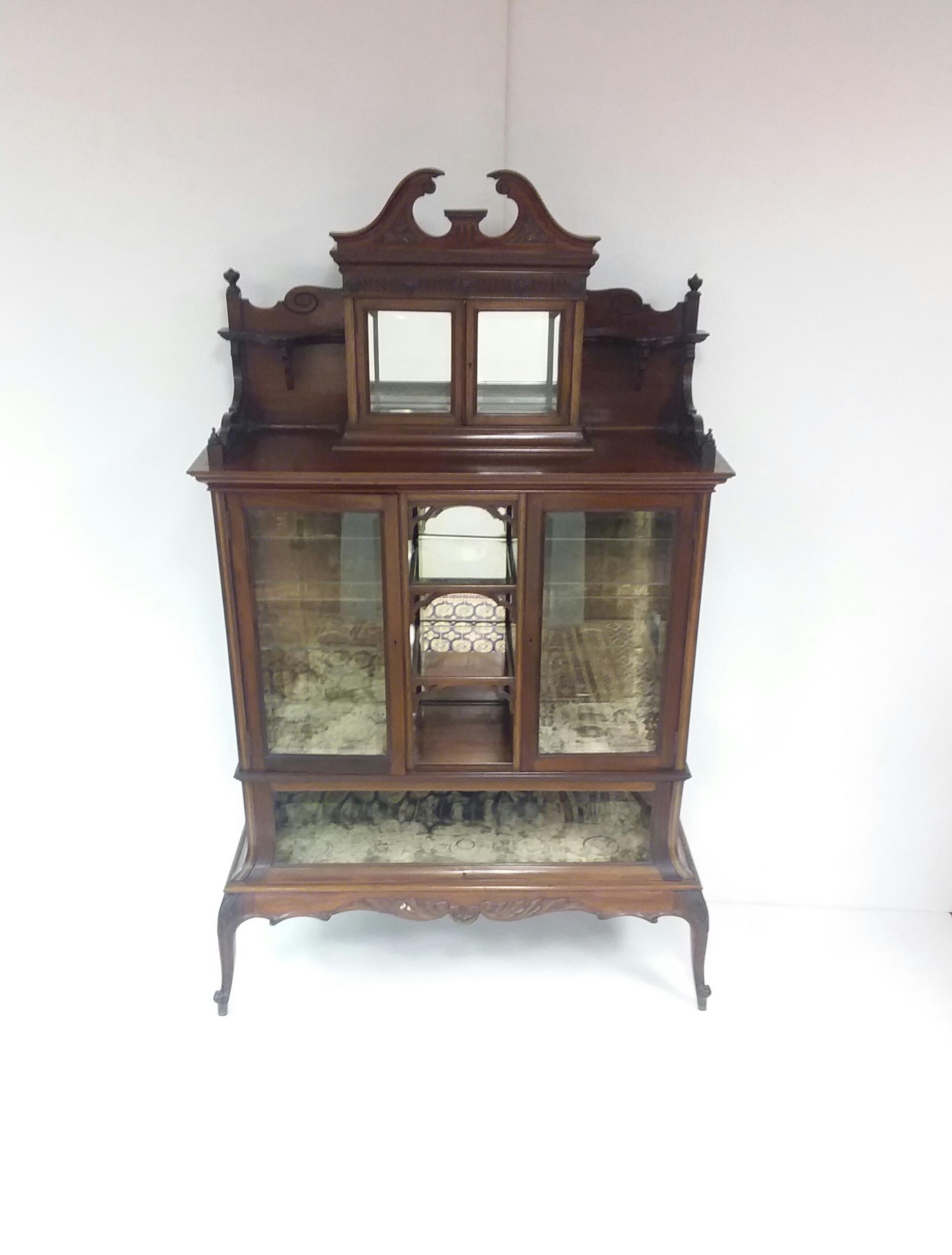 Antique Edwardian Inlaid Cabinet