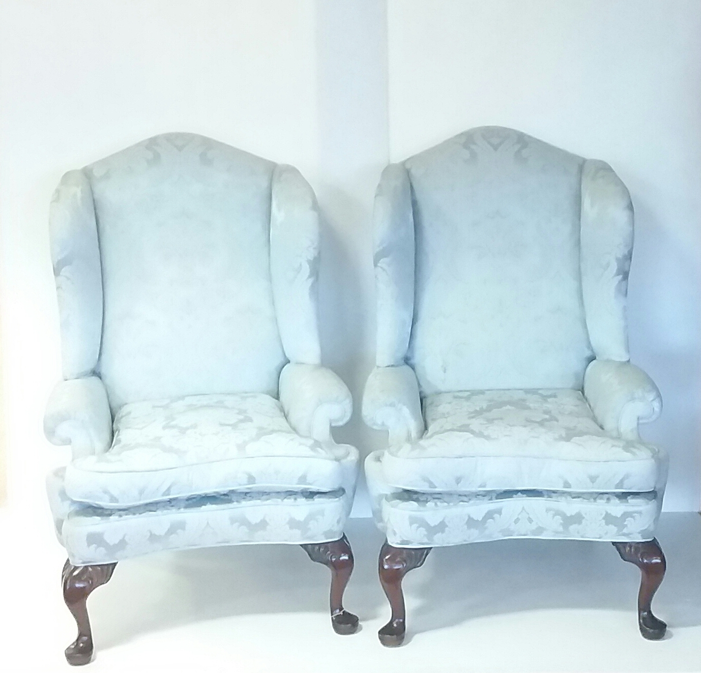 Antique Style Wingback Armchairs