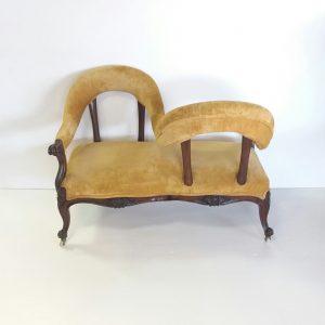 Antique Victorian Conversation Seat
