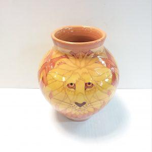 Sally Tuffin Lion Bulbous Vase