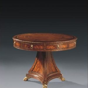 Antique Style Drum Table