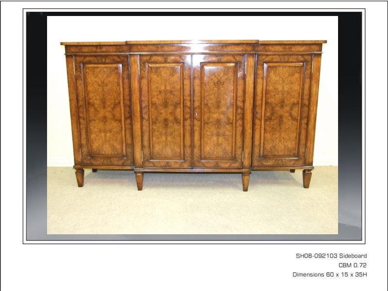 Antique Style Walnut Sideboard