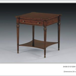 Antique Style Walnut Side Table