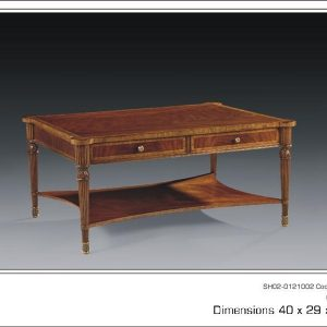 Antique Style Mahogany Coffee Table