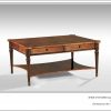 Antique Style Walnut Coffee Table