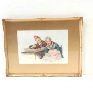 Antique Edwardian Watercolour by Giami.