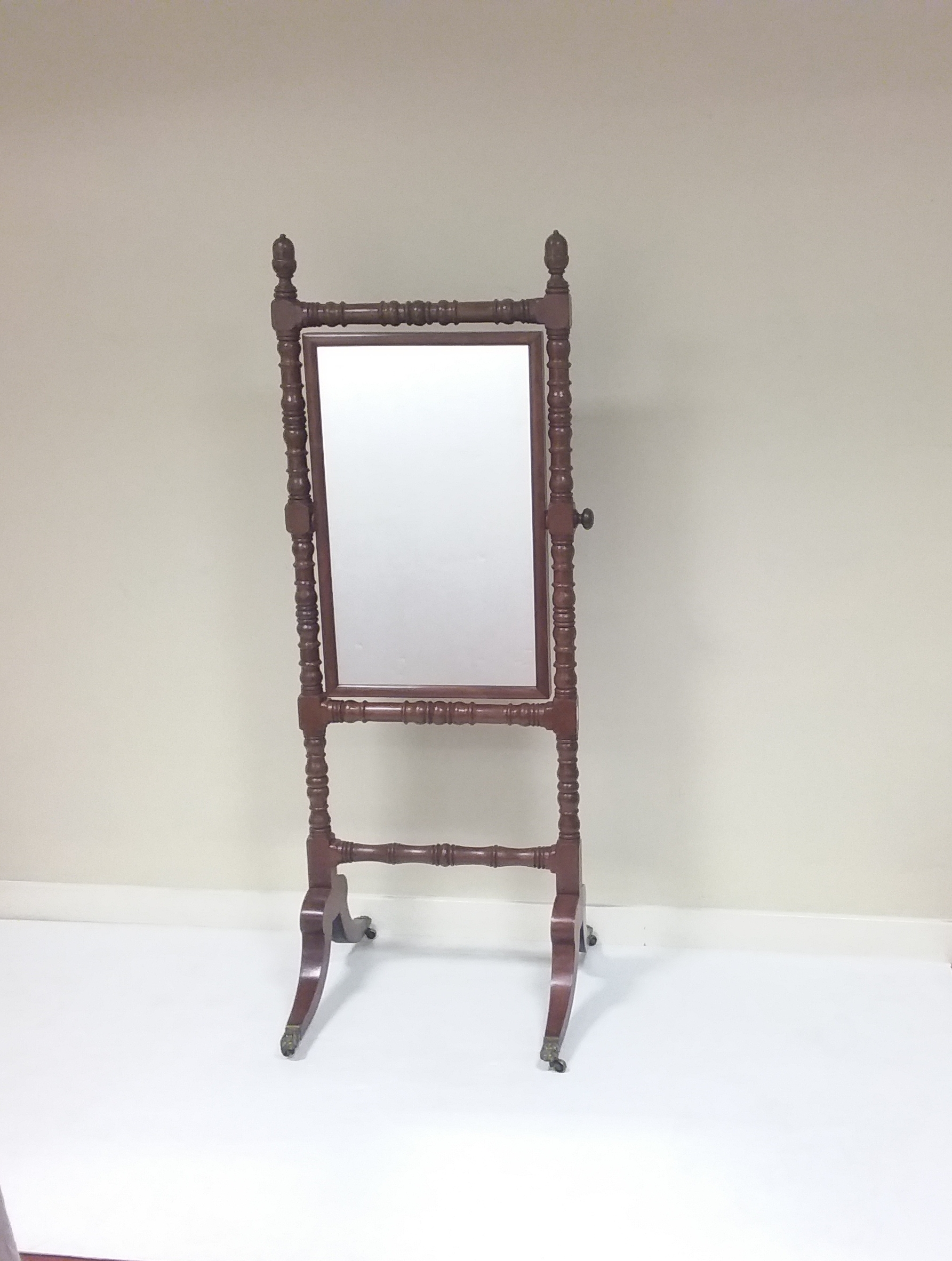 Antique Victorian- Cheval- Mirror