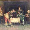 Antique -Oil- On -Canvas