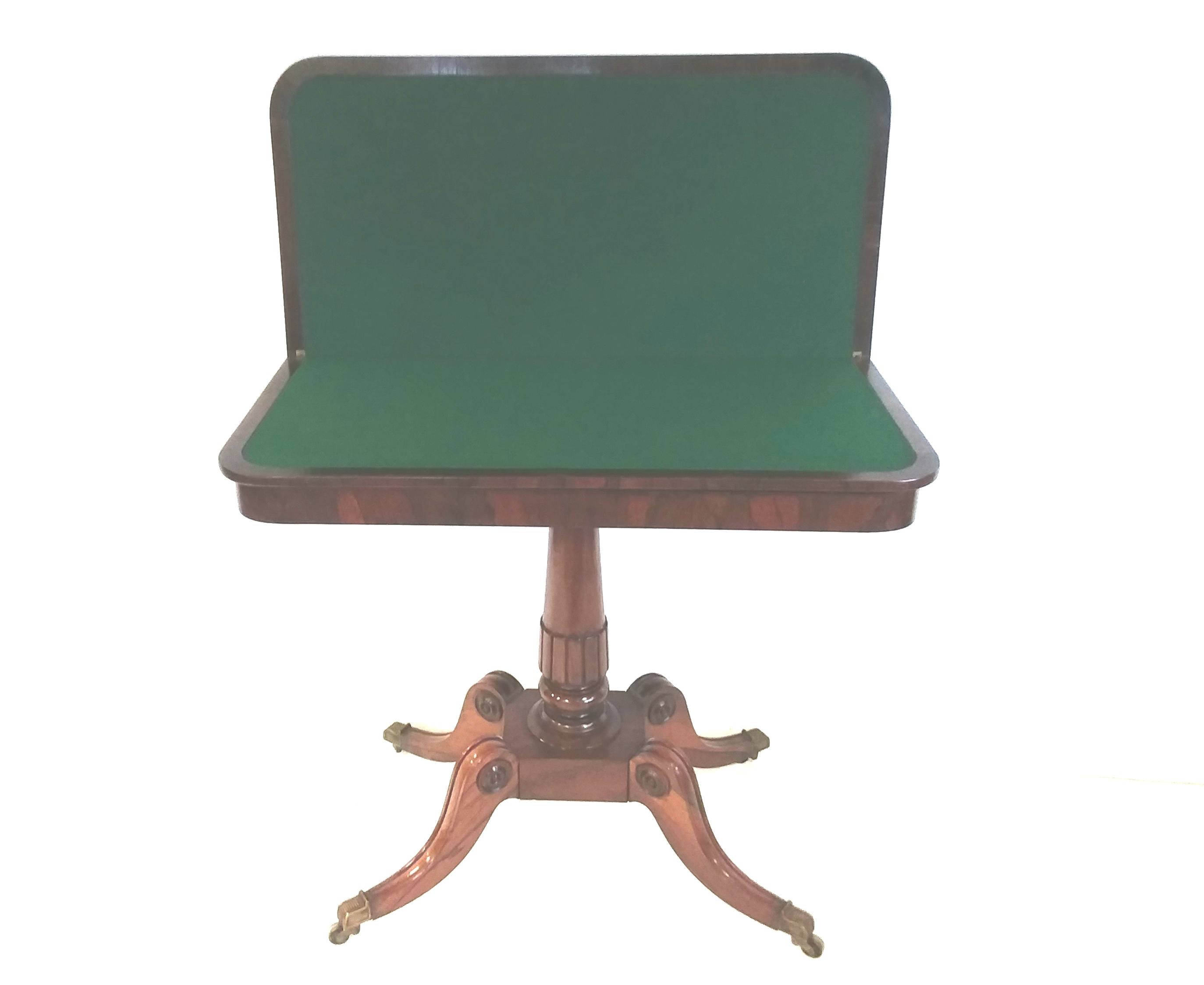 Antique Regency Rosewood Foldover Games Table