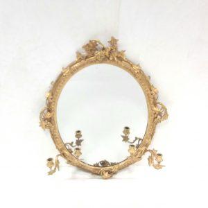 Antique 19th Century Gilt Girandle Mirror