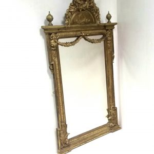 Antique Early 19th Century Pier Mirror