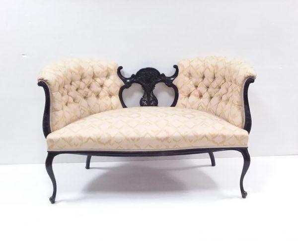 Victorian mahogany shaped couch