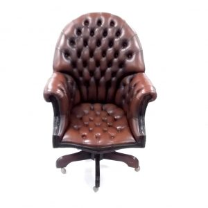Leather- Directors- Desk- Chair
