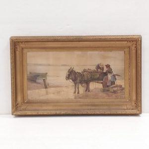 gilt- framed- water- colour