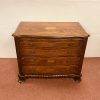 Willianm 4th Style Inlaid Mahogany Chest Of Drawers With Brush Slide